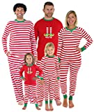 Sleepyheads Kinder Weihnachtself Schlafanzug, Streifen (SHM-5013-K-STRIPE-EU-4T)