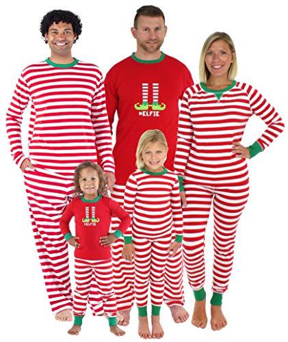 Sleepyheads Damen Weihnachtself Schlafanzug, Streifen (SHM-5013-W-STRIPE-EU-LRG)