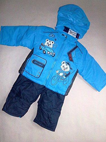 Schneeanzug Skianzug blau für Kinder Skijacke, Skihose, Jungen Gr. 80