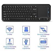 YOHOOLYO 2,4G Mini Teclado Inalámbrico USB con Ratón Touchpad para Android Smart TV Box Mini PC Windows iOS MAC Linux