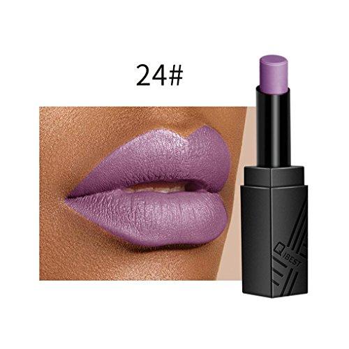 gaddrt Lippen-Wäsche-Samt-Mattflüssigkeits-Lippenstift-wasserdichte Lipgloss-Make-upschatten 17...