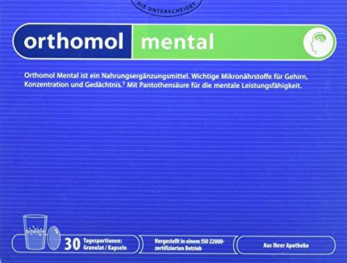 Orthomol mental 30er Granulat & Kapseln - Mikronährstoffe zur Unterstützung von  Konzentration, Gehirn & Gedächtnis -