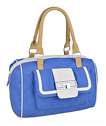 Damen Kunstleder gesteppte Handtasche Entwerfer Frauen Tasche Blau