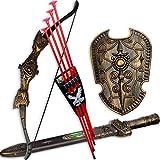 HALO NATION Bahubali Warrior Set - Knights Fancy Dress Kids Cosplay - Bow Archery , King's Sword & Shield