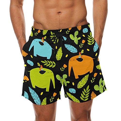 DEYYA Hombre Los Elefantes sin Fisuras la Playa del Verano Pantalones Cortos...