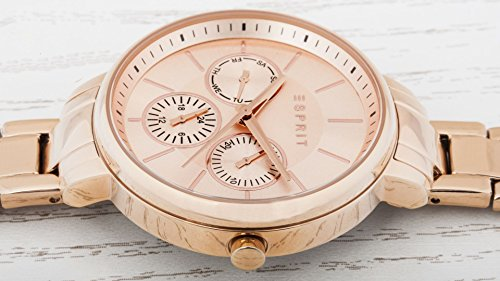 Esprit Damen-Armbanduhr Melanie Analog Quarz Edelstahl beschichtet ES108152003 - 3