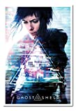 UHIBROS Ghost in The Shell One Sheet Poster Tableau d'Affichage magnétique Blanc encadré-96.5x 66cms (Environ 96,5x 66cm)
