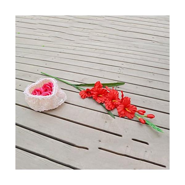 Flores Artificiales de Boda Gladiolas Gladiolus Rod 8 Colores