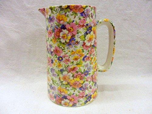 Olde England Chintz Design 2 Pint Jug By Heron Cross Pottery