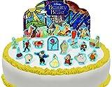 Vorgeschnittene und Essbare Disney Die Schöne und das Biest Szene Kuchen Topper (Tortenaufleger, Bedruckte Oblaten, Oblatenaufleger)