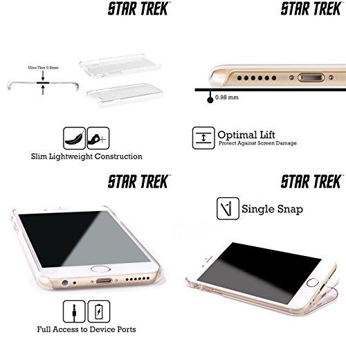 Offizielle Star Trek Padd Gadgets TNG Ruckseite Hülle für Apple iPhone 6 Plus / 6s Plus Phaser Typ 2