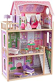 Kidkraft 65900 Ava wooden Dolls House with Furniture and Accessories Included, 3 Storey Play Set for 30 cm/12