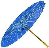 Chinesischer Schirm | Regen- & Sonnenschirm | authentische Bemalung in Handarbeit | Bambus Holz und traditionelle Bespannung