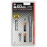 Mag-Lite LED Mini AAA Taschenlampe bis zu 84 Lumen, 12,5 cm, inkl. 2 Micro-Batterien und Taschenclip, titan-grau, SP32096