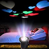 Excelvan Farbrige Herz LED Projector Lampe Stimmungslicht Dekoratives Farbiges Leuchtmittel