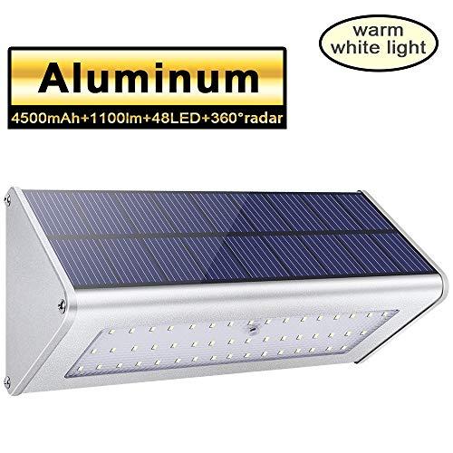 Licwshi Luci solari 1100lm 4500mAh esterna impermeabile lega di...