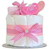 Little Cutie Rose Single Tier Filles Couche Moule à gâteau/panier de bébé/bébé Douche Cadeau idées/maternité Quittent/cadeau de naissance/envoi rapide