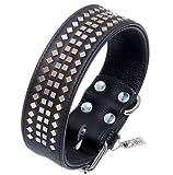 Lederhalsband Hundehalsband Leder Vintage / Schwarz / M - XL