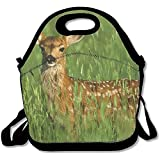 Lunch Bag Large Lunch Bag, Thermos Big Lunch Bags For Women Cute Deer Fawn
