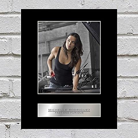 Michelle Rodriguez Photo dédicacée encadrée Fast and Furious