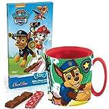 JT Süßes Geschenkset Paw Patrol Kakaotasse mit Chase und Schokolade - Tolles Geschenk zu Nikolaus oder Weihnachten