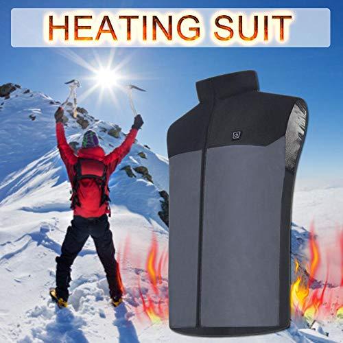 Leiyini Winter USB Lade Elektrische Beheizte Weste 5 V Beheizte Kleidung Weiche für Motorrad Snowmobile Bike Reiten Jagd Golf Reise Angeln für Männer oder Frauen -
