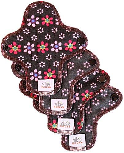 Moon Pads Mini waschbare Slipeinlage aus Bio-Baumwolle 4er-Set flowers -