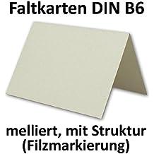 Geprägte Stuktur Faltkarten, Melliert | 50er Set | Blanko Einladungskarten  Mit Echter Filzmarkierung |