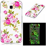 Coque Samsung Galaxy J7 2015, BONROY® Samsung Galaxy J7 (2015) Housse Luminous Effect Noctilucent Green Glow in the Dark Ultra Mince Souple Gel TPU Bumper Poussiere Resistance Anti-Scratch Coque Housse Pour Samsung Galaxy J7 (2015) - Rose