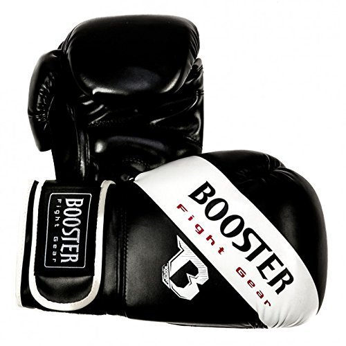 Booster Boxhandschuhe BT SPARRING White Stripe - Boxhandschuhe MMA Kickboxen Sparring Kickboxen Muay Thai Thailand 16oz