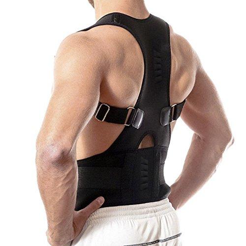 Unbekannt Vr7Back Support Neopren Magnetische Schulter Lumbar, atmungsaktiv, mit Gürtel, Gurt-Rückenbandage Gym-Arthritis-Haltung Corrector Bad–Schmerzen Rücken-Bandage, Schwarz, xl (Support Lumbar Support Back)