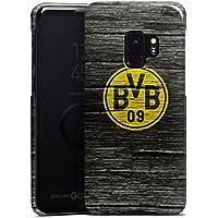 Samsung Galaxy S9 Hülle Premium Case Cover Borussia Dortmund BVB Holzoptik