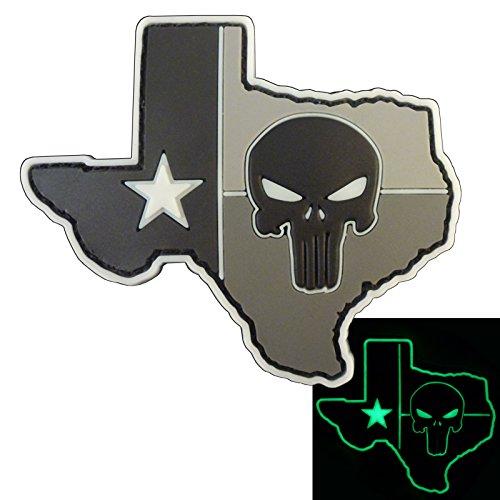 Glow Dark ACU Punisher Texas Lone Star DEVGRU PVC Gomme Morale Touch Fastener Écusson Patch