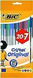 BIC Cristal Kugelschreiber, mittlere Spitze, verschiedene Farben, 27 Stück