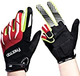 FREETOO Cycling Gloves Full Finger Gel Padded for Road Bike Mountain Biking Racing & BMX - Unisex