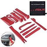 OZUAR 11 Stück Fahrzeug Innen-Verkleidung Demontage Werkzeuge Zierleistenkeile-Set Automotive Reparatur Werkzeug Universal, Red
