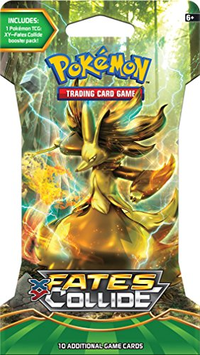 "Pokemon XY10 ""Fates Collide"": 1 Booster Pack con 10 carte supplementari per Pokemon TCG (in lingua inglese)"