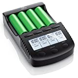 CSL - Power Akku Ladegerät | Universale Akku Ladestation/Intelligent Battery Charger | | beleuchtetes LCD-Display + Auto Light Off | inkl. 1x USB-Ladeport | Batterie-Verpolungsschutz