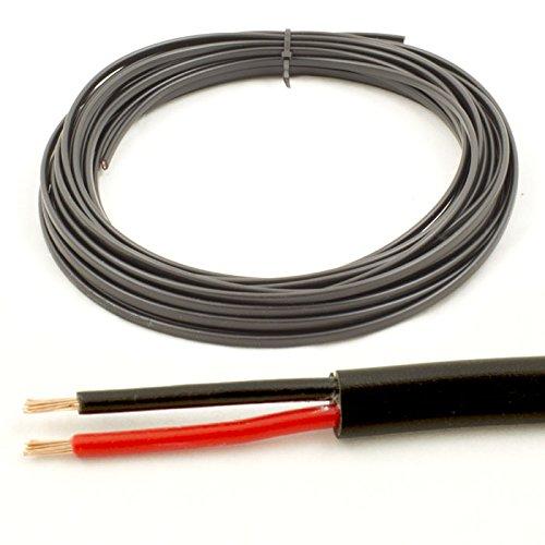 Preisvergleich Produktbild * 16,5Amp spezifische * 1mm2dünn 2Twin Core Kabel Draht Auto LED Lampen (10Mio. Coil)