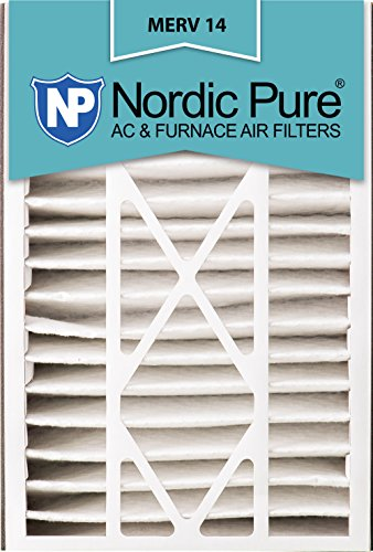 Nordic Pure 16x25x5 (4-7/8 Actual Depth) MERV 14 Trion Air Bear Replacement Pleated AC Furnace Air Filter, Box of 1