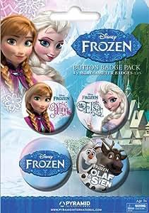 Ensemble de badges Frozen La Reine des neiges