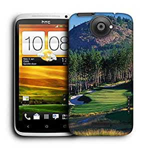 Snoogg Tall Trees In Golf Printed Protective Phone Back Case Cover For HTC One X