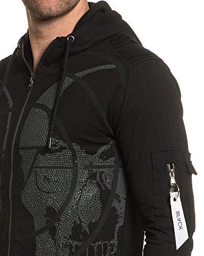 BLZ jeans - Gilet sweat avec strass Noir