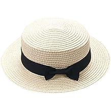 1bec7797e19f4 ZARLLE Sombrero De Paja ala Ancha Paja Bowknot Transpirable Sombrero  Sombreros para El Sol del Verano