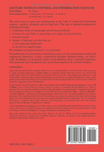 Complex Robotic Systems (Lecture Notes in Control and Information Sciences)