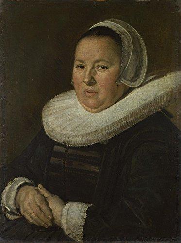 Die Museum Outlet–Frans Hals–Portrait Of A mittleren Alters Frau mit Hände gefaltet, gespannte Leinwand Galerie verpackt. 50,8x 71,1cm