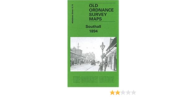 OLD ORDNANCE SURVEY MAP SOUTHALL 1894 HIGH STREET MARKET PLACE HAYES BRIDGE