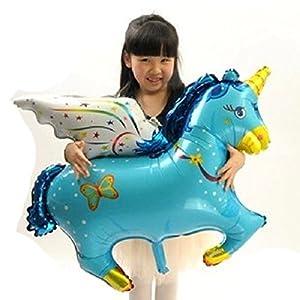 mondial-Fete-Unicornio Pegaso Hinchable Azul 1Metro