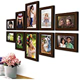 AJANTA ROYAL Synthetic Wood Photo Frames(Brown) - Set of 10