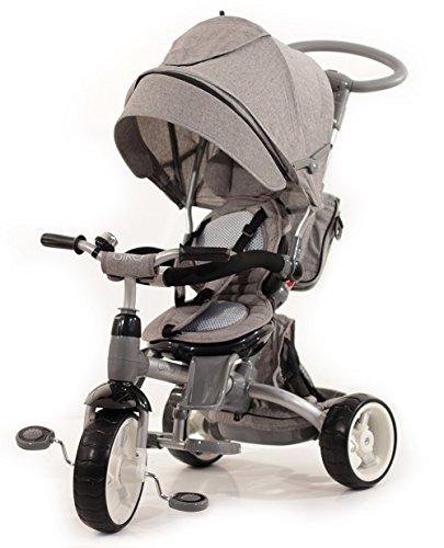 BABY'S CLAN Tricycle/Poussette Evolutif 6 en 1 Gris
